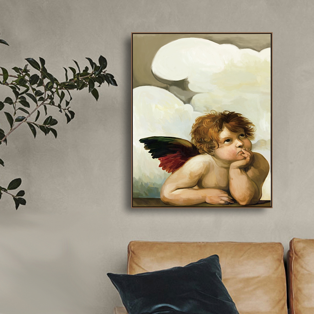 MUTU Calligraphy Raphael Canvas Painting Classic Wall Artwork The Sistine Madonna Posters and Prints Living Room Home Decor in Painting Calligraphy from Home Garden