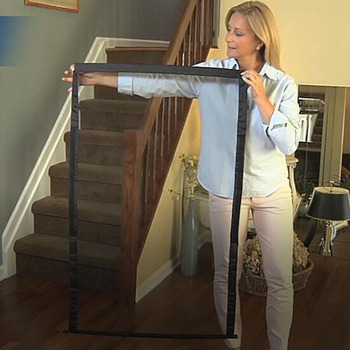Folding Dog gate and Safety Pet Fence for Doorway and Hall Made with Woven Mesh Fabric