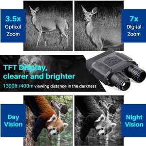 Image 5 - 7X31 Infrared HD Digital Night Vision Goggles Camera Handheld Binoculars Image Video Recording Infrared Camera NV400B Widescreen