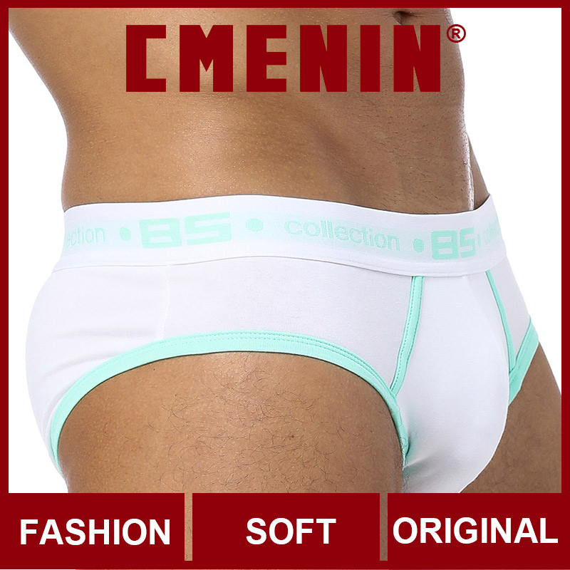 New BS Cotton Low Waist Mens Briefs Underwear Shorts Letter Mens Panties Sexy Gay Men Underwear Bikini Men Briefs Srting Man