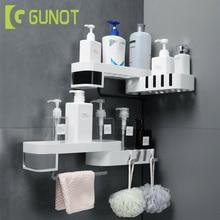 Estante de ducha de esquina GUNOT, trípode giratorio creativo sin costuras, estante de almacenamiento de montaje en pared para el hogar, juegos de accesorios de baño multifunción