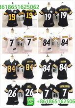 2018 Women Pittsburgh Antonio Brown JuJu Smith-Schuster Ben Roethlisberger Jerseys For Woman(China)