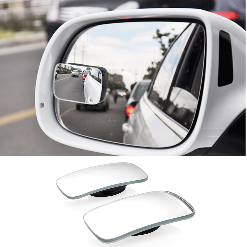 1Pair Blind Spot Mirror, HD Glass Convex Lens Frameless Adjustable Blind Spot Mirror For All Universal Vehicles Car Stick-on