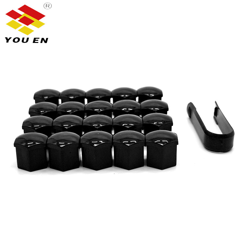 YOUEN 20pcs 21mm Tyre Car Vehicles Tire Wheel Tyre Screw Cap Decorative Tyre Wheel Nut Screw Bolt Car Styling Dust Proof Protect