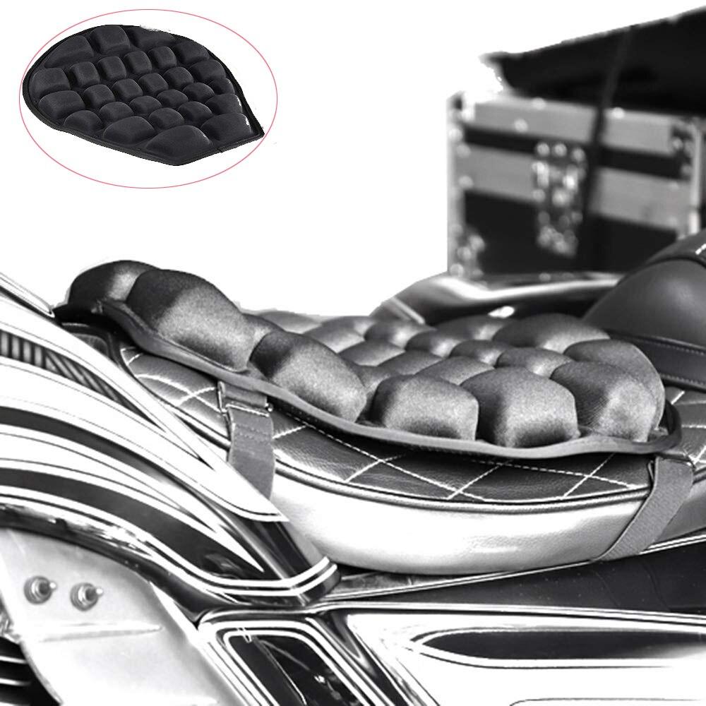 Accesorios profesionales de la motocicleta asiento de aire cojín de alivio de presión asiento de paseo cojín TPU asiento rellenable de agua para Cruiser