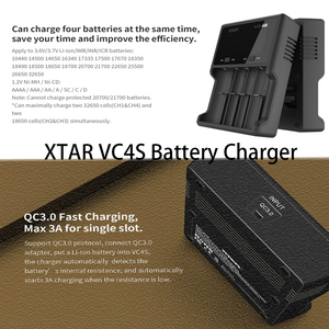 Image 4 - Caricabatterie XTAR Batery VC8 VC4 VC4S Display caricabatterie USB per batterie AAA AA Li ion 10400 26650 20700 21700 18650 caricabatterie