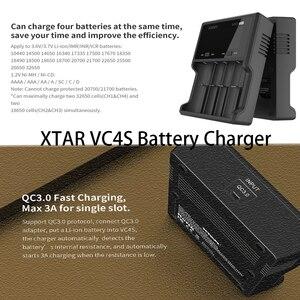 Image 4 - Xtar batery carregador vc8 vc4 vc4s carregador usb display para aaa aa li ion batteris 10400 26650 20700 21700 18650 carregador de bateria