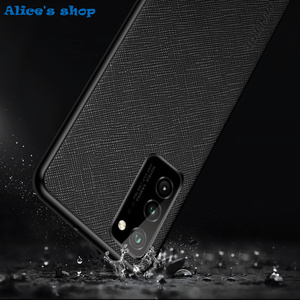 Image 5 - Fashion Cross Genuine Leather & TPU Back Case For Honor View30 V30 Pro Luxury Slim Shockproof Cover Case For Honor View 30 Pro