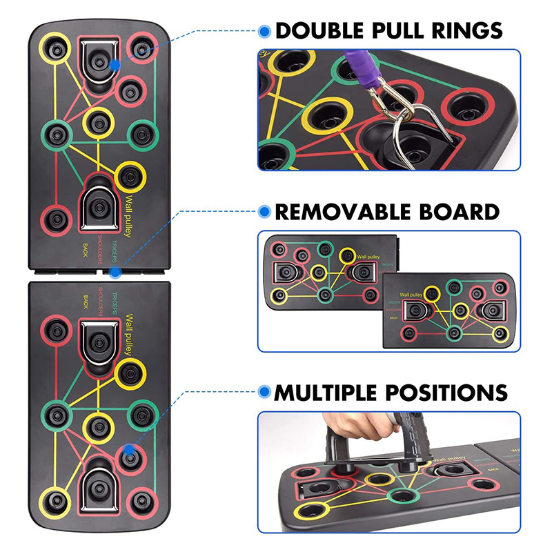 9 in 1 push up board exercise equipment for home gym body building men training fitness