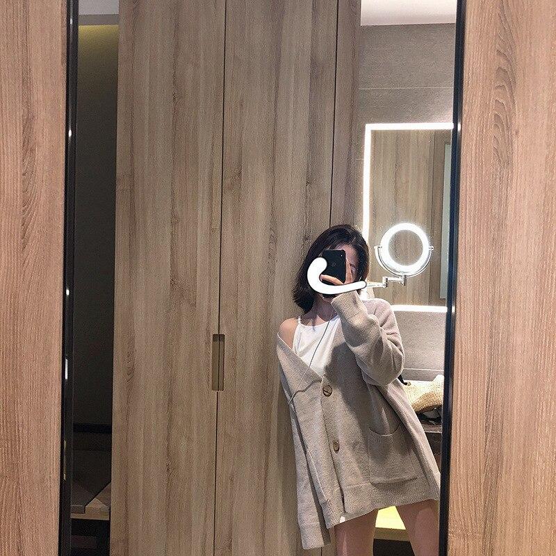 Mooirue Winter 2019 Women Sweet Knitted Cardigan Slim Outwear Feminino Pink Gray Knitwear in Cardigans from Women 39 s Clothing