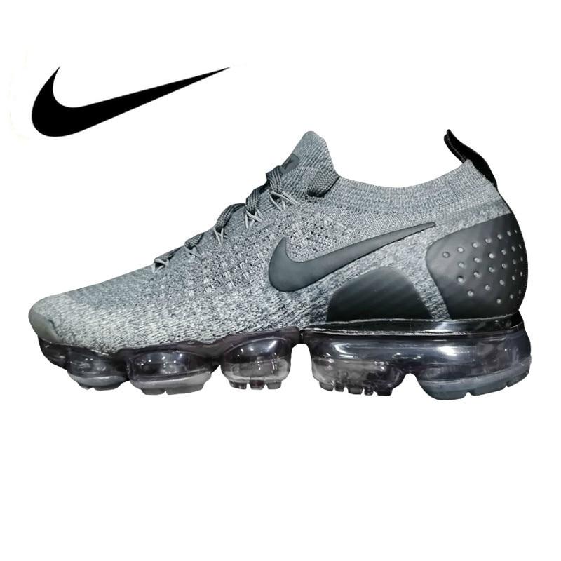 Original authentique Nike Vapormax Flyknit 2.0 hommes chaussures de course respirant sport en plein air baskets entraînement nouveauté 942842