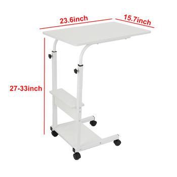 Składany stół do laptopa 60*40)cm stojący biurko regulowana wysokość Laptop łóżko stół składane biurko komputerowe kompaktowe obrotowe biurko tanie i dobre opinie CN (pochodzenie) Laptop Table Density Board Laptop biurko 60x40x(68-83)cm