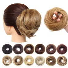 1 шт., синтетические резинки для волос, Пончик, вытянутые, гибкие волосы, пучок, прямые шиньон, эластичные, грязные резинки для волос, обертка для конского хвоста