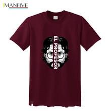 New Summer Cool Trend Money Heist Tees Shirt Mens Short Sleeve TV Show La Casa De Papel T-shirt House of Paper Tshirts Camisetas