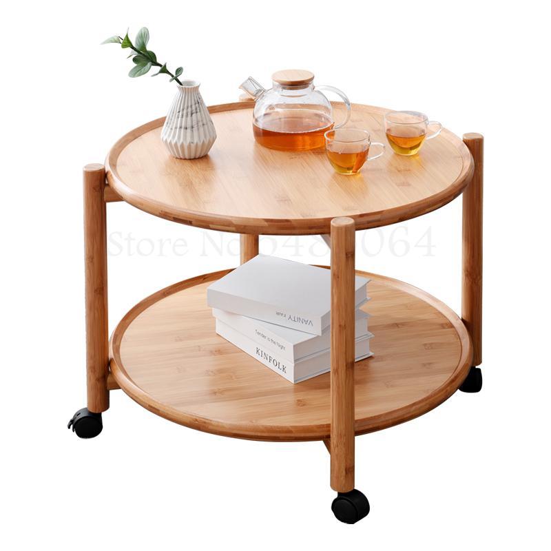 Креативный съемный журнальный столик, двухслойный журнальный столик, чайный столик с современным минималистичным хранением, мобильный сто...