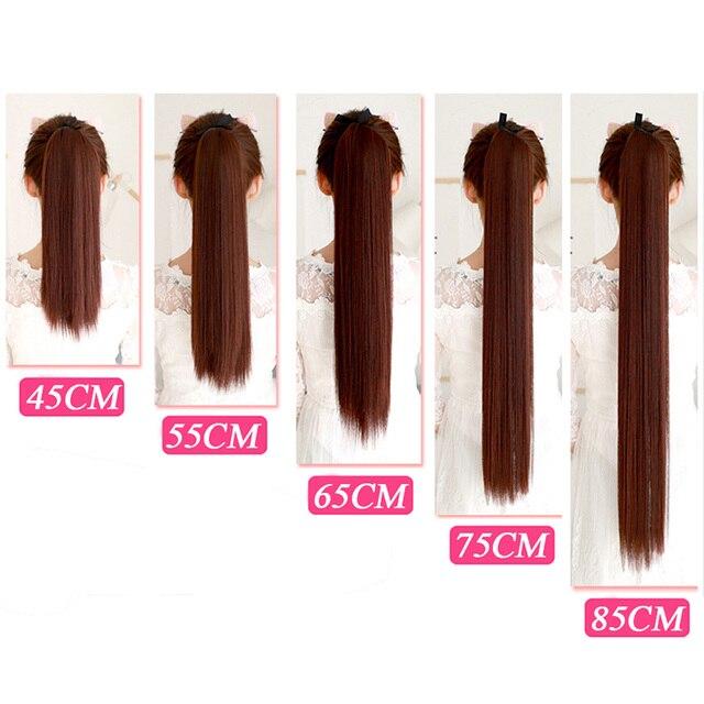 MSTN 30-inch synthetisch haar fiber hittebestendig steil haar met paardenstaart haar uitgebreide zwart bruin hoofddeksels
