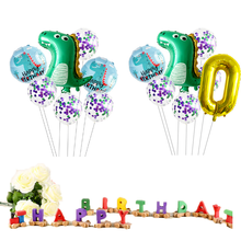 7pcs/set Dinosaur Foil Balloons happy birthday party decoration bride to be balloons bachelor party decoration jurassic world