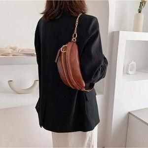 Image 3 - [BXX] Retro deri kadınlar için Crossbody çanta 2020 bayan askılı çanta katı renk çanta ve çantalar zincir göğüs çanta HI751