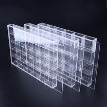 Caixa de acrílico para armazenamento, caixa de armazenamento perspex à prova de poeira para kit de garagem, modelo de carros, organizador de joias colecionáveis