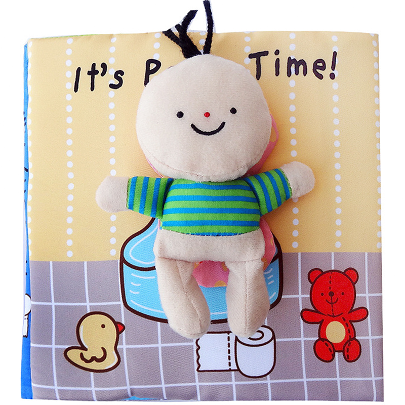 Baby Toy Baby Soft Cloth Book Infant Early Cognitive Development Education Child Interactive Book First Book Bathroom Quiet Book