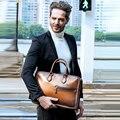 Dimy vintage artesanal italiano genuíno maleta de couro masculino mão pátina mensageiro sacos de ombro portátil caso negócios sacos
