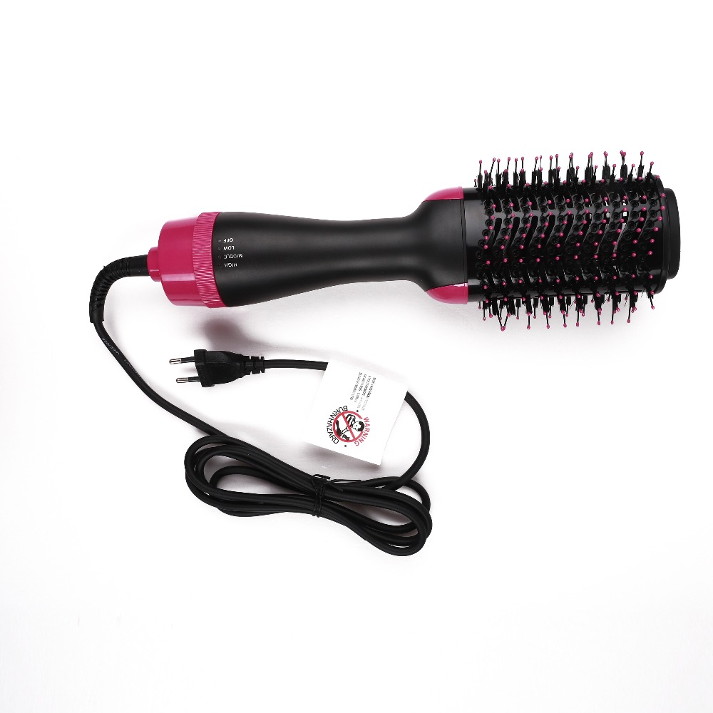 2 IN 1 One Step Hair Dryer Curling Brush Hair Styling Tools Comb Hot Air Brush Hair Straightener Free Shipping DropShipping37