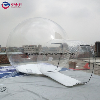 цена на Free shipping outdoor event inflatable camping dome tent PVC tarpaulin inflatable transparent bubble tent for hotel
