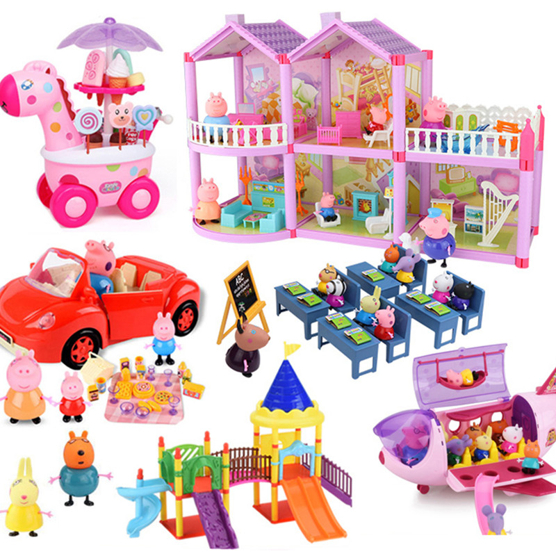Peppa Pig Toys George Pepa Pig Family Set Daddy Maddy Bath Toy Play Water Children's Toy Gift Peppa Pig House Toys Birthday Gift