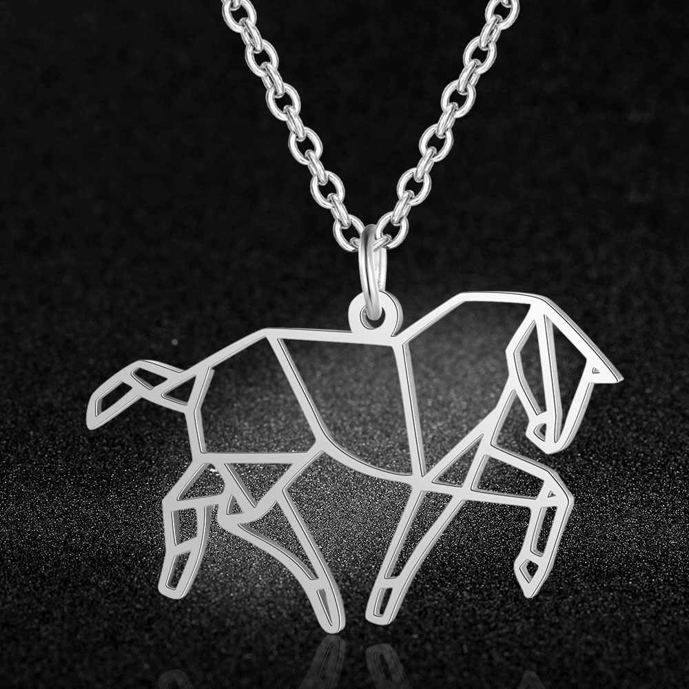 100% Real Stainless Steel Horse Necklace Unique Animal Jewelry Necklace Special Gift Amazing Design Trend Jewelry Necklaces