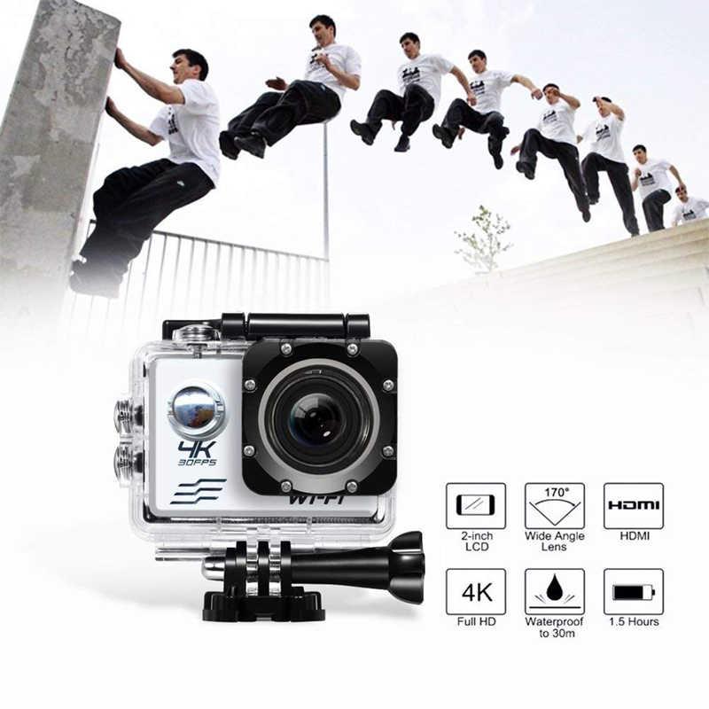 """Cámara de Acción gopro Ultra HD 4K Cámara WiFi 2,0 """"deportes acción videocámara 170D impermeable cámara del coche de la cámara"""