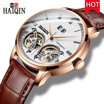 HAIQIN Men's Watches Watch Men 2019 New Luxury Waterproof Fashion sports / Automatic / Mechanical / Gold / Military / Watch Men