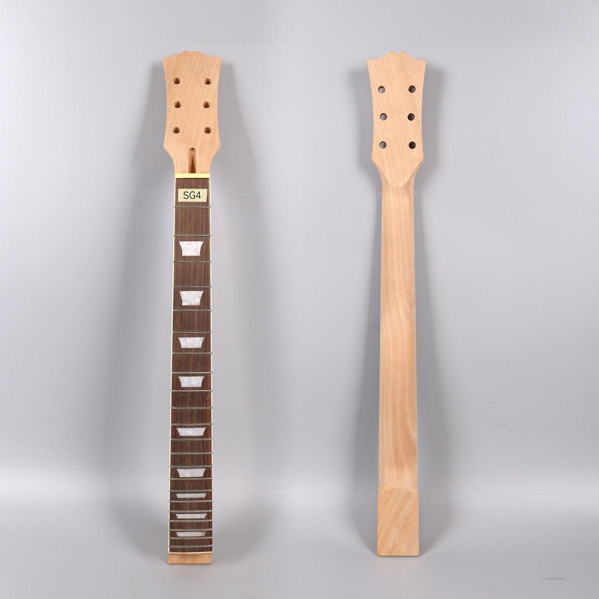 Acajou guitare électrique cou 22fret 24.75 pouces 628mm palissandre Fretboard trapèze incrustation inachevé pièces de guitare