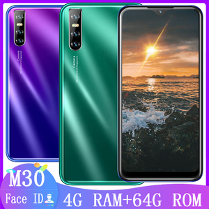M30 6.26inch Water drop screen smartphones WIFI 4G RAM 64G ROM quad core 13mp Face ID unlocked android mobile phones celulares
