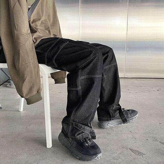 Wide Leg denim Loose Straight Baggy 4