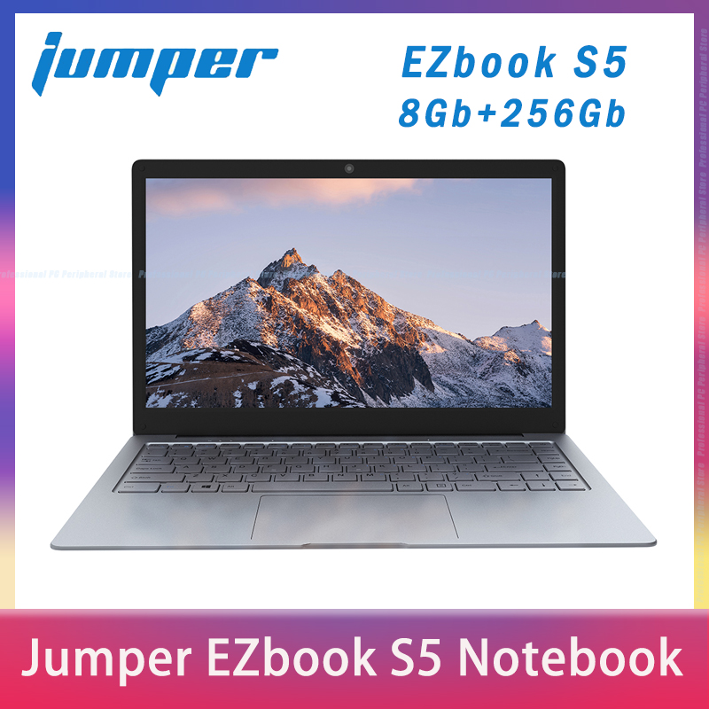 2020 NEW Jumper EZbook S5 14 0 Inch 8GB Ram 256GB SSD CPU N3450 1920 1080 FHD IPS 1 25KG Light 4600mAh Windows10 Notebook Laptop