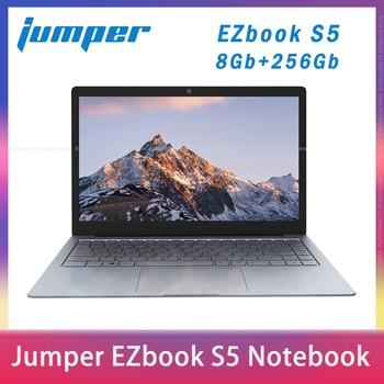 цена на 2020 NEW Jumper EZbook S5 14.0 Inch 8GB Ram 256GB SSD CPU N3450 1920*1080 FHD IPS 1.25KG Light 4600mAh Windows10 Notebook Laptop