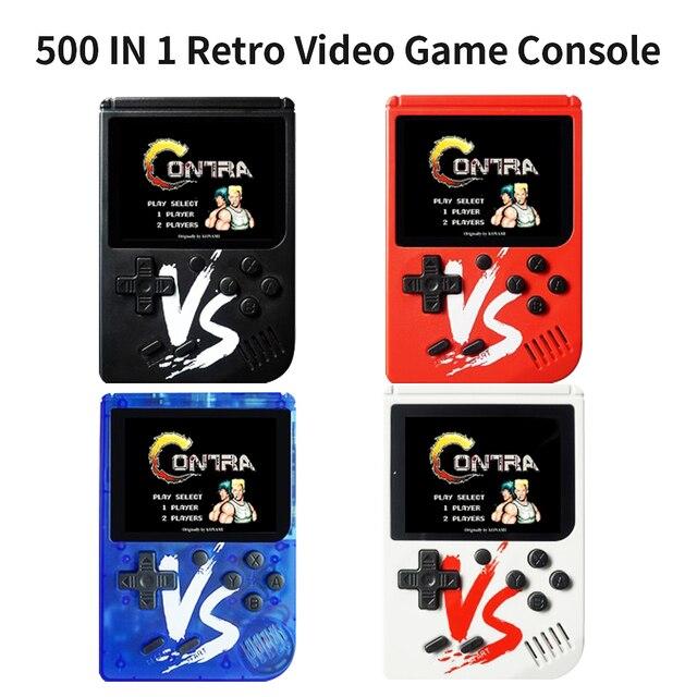 اجهزة اللعبة الالكترونية المحمولة 500 في 1 ريترو لعبة فيديو وحدة التحكم المحمولة لعبة الجيب المحمولة لعبة وحدة التحكم المصغرة المحمولة لاعب للأطفال