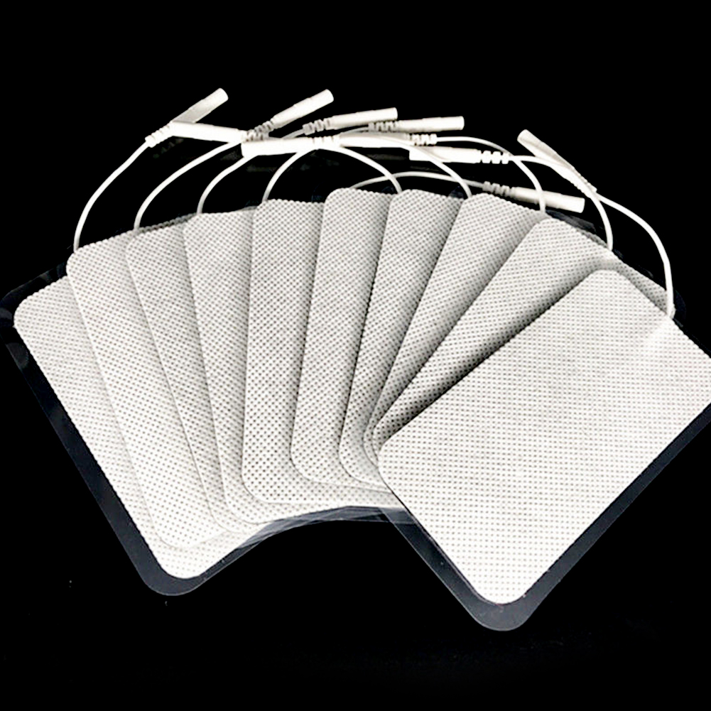 Electrode Pads For Tens Units White Cloth For Slimming Massage Digital Therapy Machine Massager 5x10 Cm