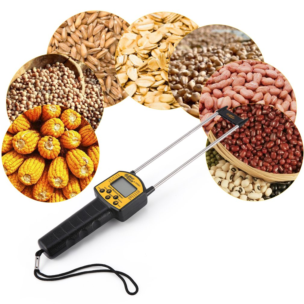 Цифровой гидрометр для измерения влажности зерна, использовать для кукурузы, пшеницы, риса, бобов, арахисовые зерна, измерение влажности, тестер AR991|Измерители влажности|   | АлиЭкспресс
