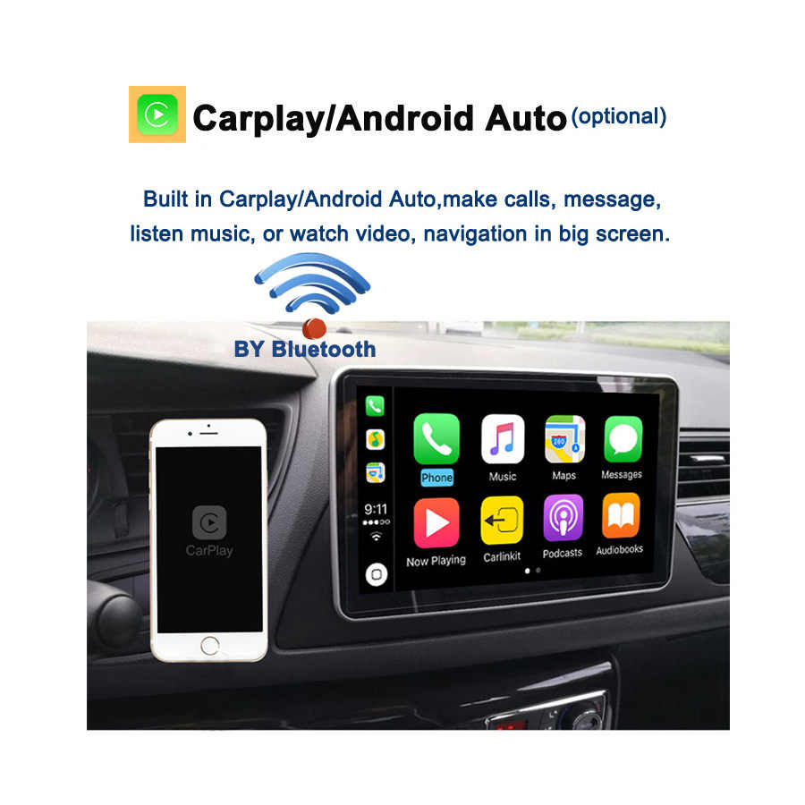 Carplay DSP PX6 IPS Android 10 4GB + 64GB ISO araç DVD oynatıcı multimedya oynatıcı 1Din Nissan evrensel radyo GPS Wifi Bluetooth 5.0