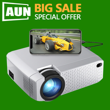 BIG SALE AUN MINI Projector D40W Native Support IOS/Android Phone Wireless Sync
