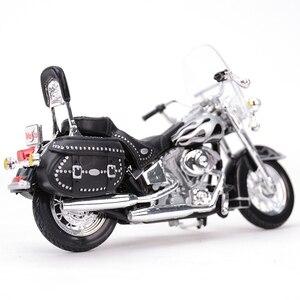 Image 4 - Maisto 1:18 2002 FLSTC miras Softail klasik kayma döküm araçları koleksiyon hobiler motosiklet Model oyuncaklar