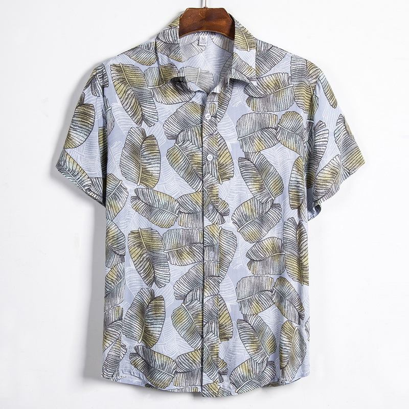 2020 Summer New Men Hawaiian Casual  Printed Short-sleeve Shirts Fashion Casual Wild Shirts Classic One Button Tops