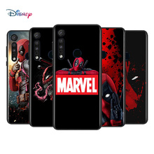 Marvel Avengers Super Hero Deadpool For Motorola G9 G8 G Power One Fusion Edge E6 Plus Play Lite TPU Silicone Black Phone Case