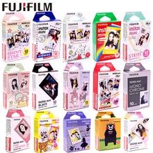 Fujifilm 10 листов звезды полоса ЦУМ черная рамка Миньон мгновенная пленка фотобумага для Instax Mini 8 7s 25 50s 90 9 SP-1