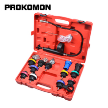 18 Pcs Radiator Pressure Tester Tool Kit Cooling System Testing Tool Vacuum Vehicle Universal For VW Audi BMW Ford Volvo