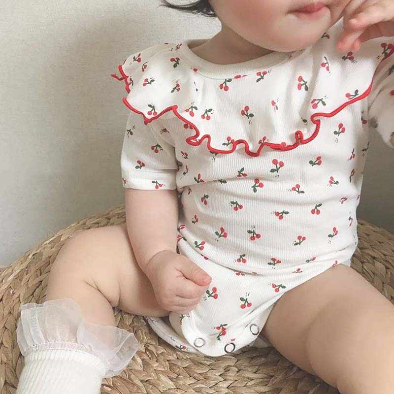 Baby Girl Newborn Clothes Cotton Princess Romper Bodysuit Jumpsuit Summer Outfit