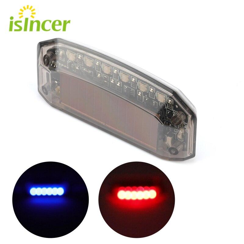 Aviso de sinal de luz led cuidado lâmpada de alarme de energia solar falso sistema de segurança do carro strobe flash simulação universal anti-roubo