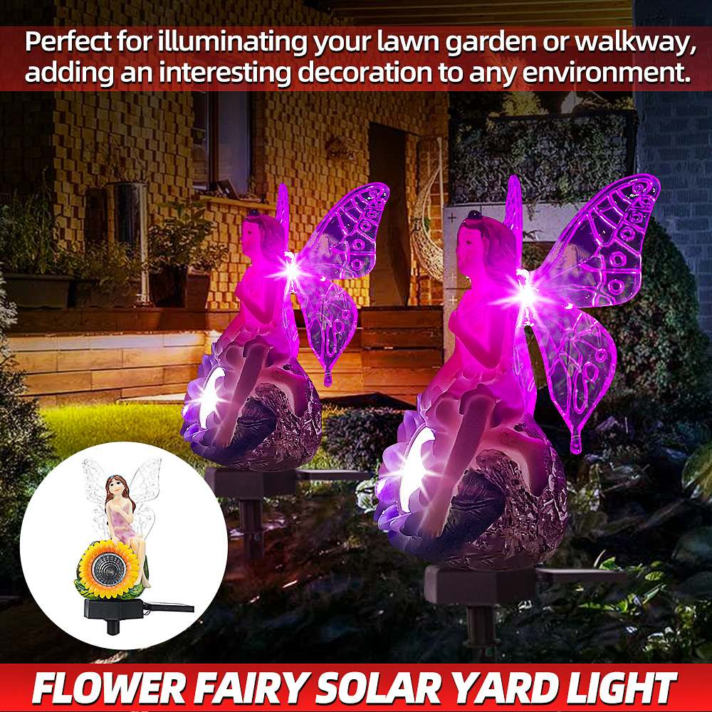 Solar Power LED Yard Lawn Light Outdoor Lighting Garden Landscape Lamps Decoration Stake Solar Lamp Flower Fairy Ornament
