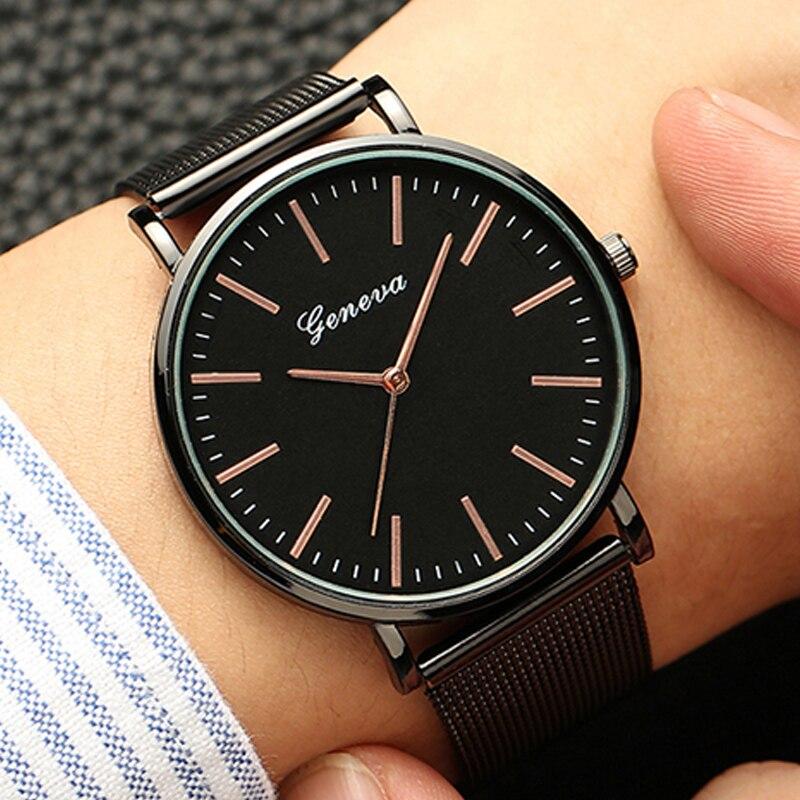Casual Watches Bracelet Quartz Classic Stainless-Steel Womens Fashion GENEVA